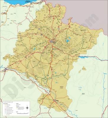 Mapa De Navarra Carreteras.Mapa De Navarra Espana