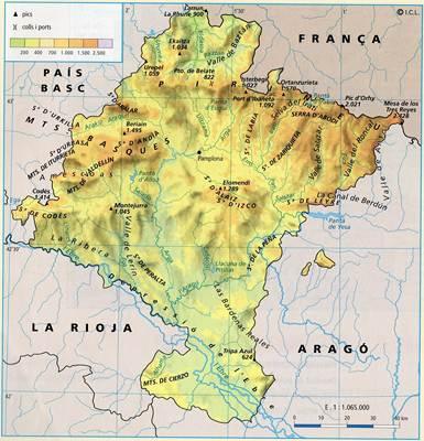 Mapa de Navarra  Espaa