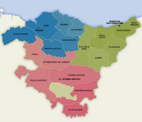 Mapa Politico Pais Vasco Y Navarra.Mapa De Pais Vasco Espana
