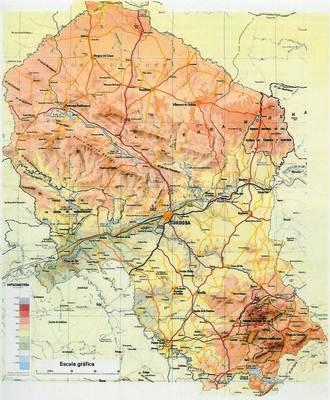 Mapa Provincia De Cordoba España.Mapa De Cordoba Andalucia Espana