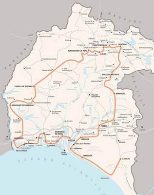 Mapa De Huelva Capital.Mapa De Huelva Andalucia Espana