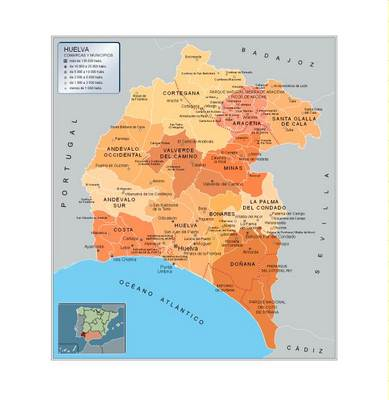 Mapa de Huelva  Andaluca  Espaa