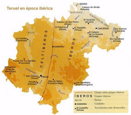 Mapa Provincia De Teruel.Mapa De Teruel Aragon Espana