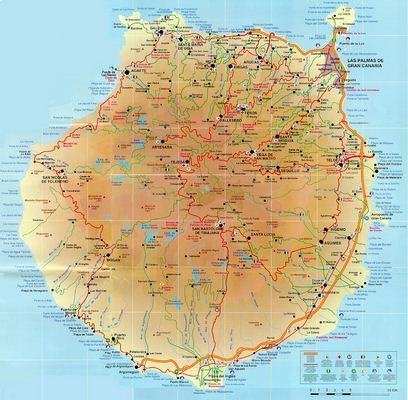 Mapa de Gran Canaria Canarias Espaa