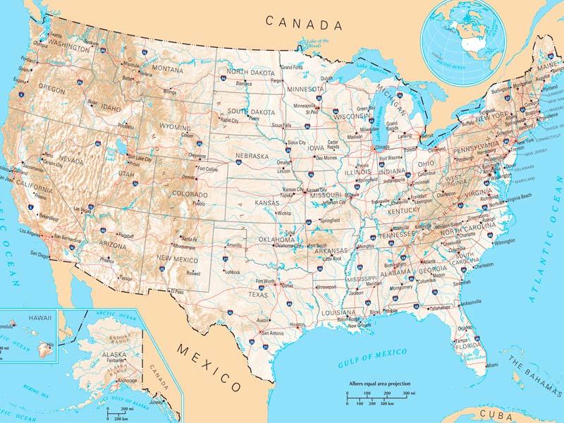 Mapa De Estados Unidos Descarga Los Mapas De Estados Unidos