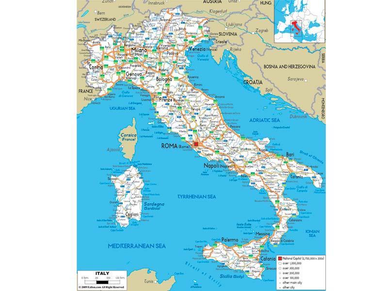 Mapa De Italia Fisico.Mapa De Italia Descarga Los Mapas De Italia