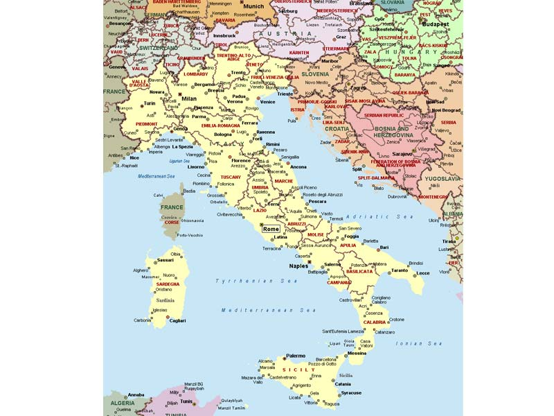 Mapa De Italia Descarga Los Mapas De Italia - Mapa de italia