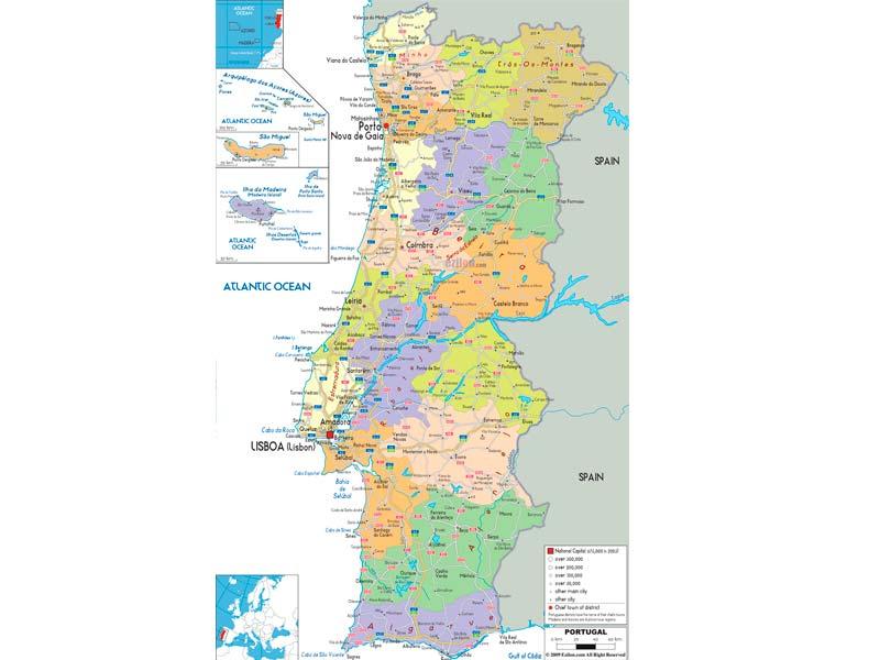 Mapa De Carreteras Portugal.Mapa De Portugal Descarga Los Mapas De Portugal
