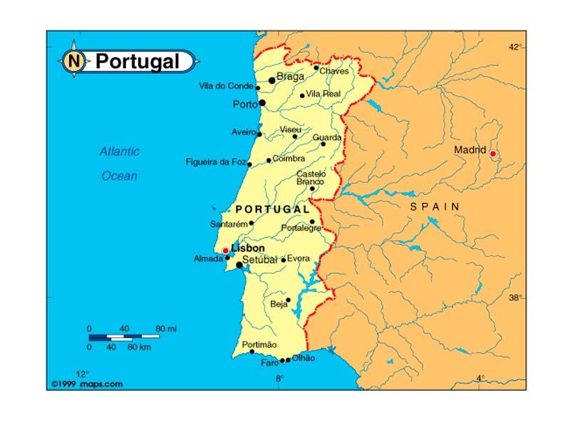mapa hidrografico portugal Mapa de Portugal | Descarga los mapas de Portugal mapa hidrografico portugal
