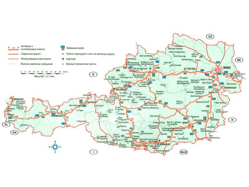 Mapa De Austria Descarga Los Mapas De Austria