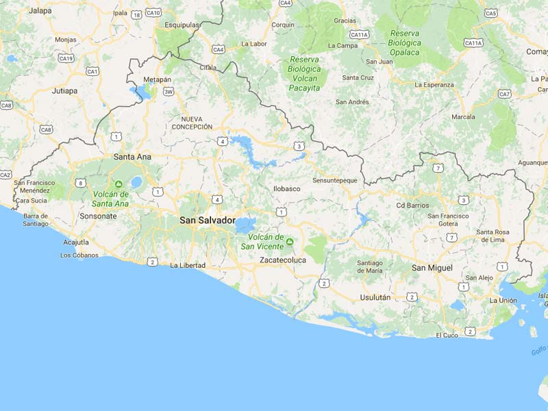 Mapa De El Salvador Descarga Los Mapas De El Salvador