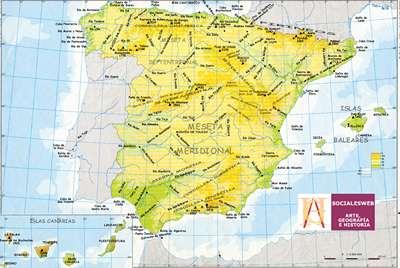 Mapa Hidrografico De España.Mapa De Espana Descarga Los Mapas De Espana