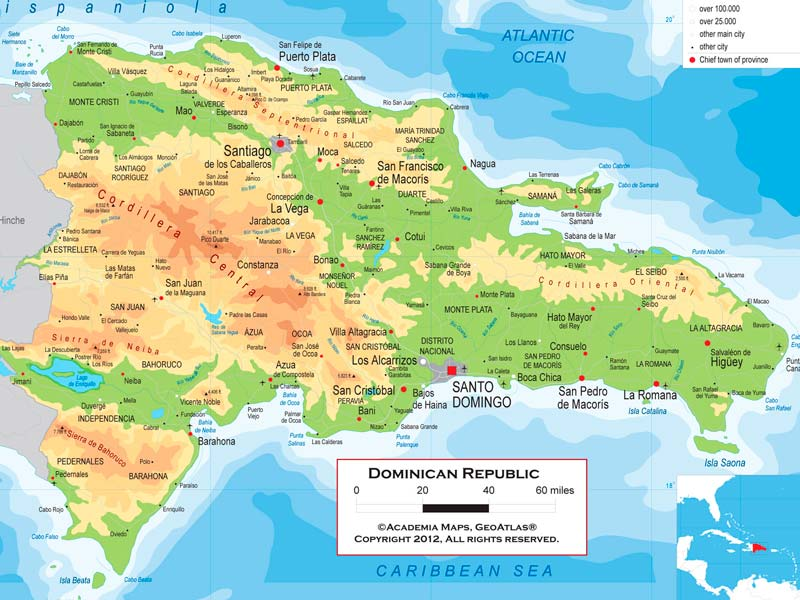 Mapa De República Dominicana Descarga Los Mapas De República