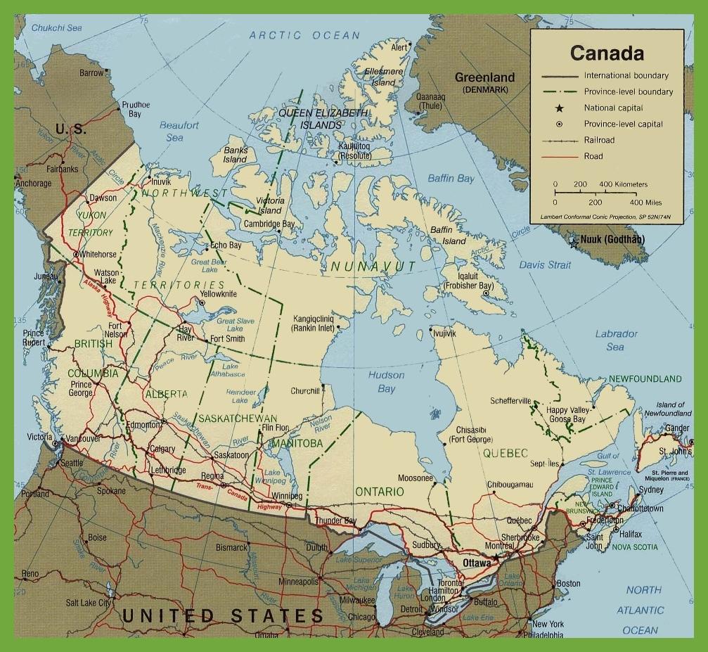 Mapa De Canada Descarga Los Mapas De Canada
