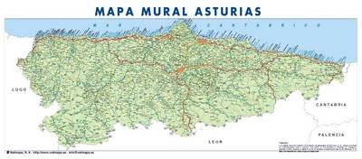 Mapa De Asturias Espana