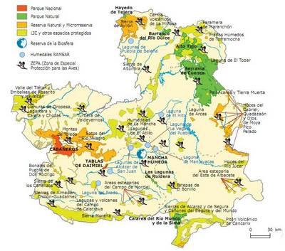 Mapa De Castilla La Mancha Espana