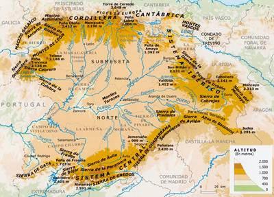 Mapa Fisico Castilla Y Leon  My blog