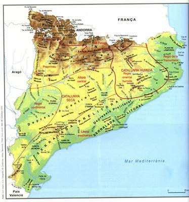 Mapa Fisic Catalunya Mut.Mapa De Cataluna Espana