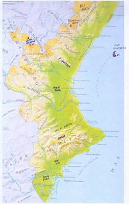 Mapa Rios Comunidad Valenciana.Mapa De Comunidad Valenciana Espana