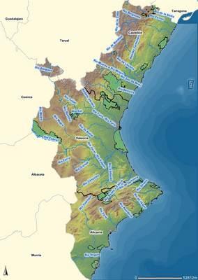 Mapa de comunidad valenciana espa a for Cabanas en los arboles comunidad valenciana