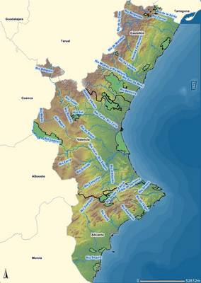 Mapa Fisico Comunitat Valenciana.Mapa De Comunidad Valenciana Espana