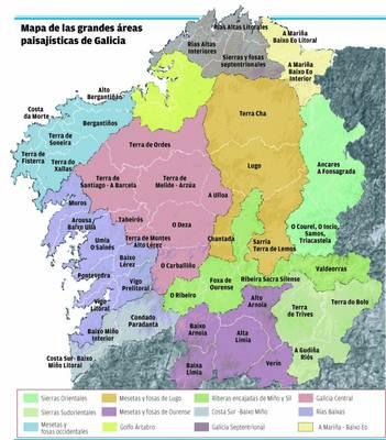Mapa Politico De Galicia.Mapa De Galicia Espana