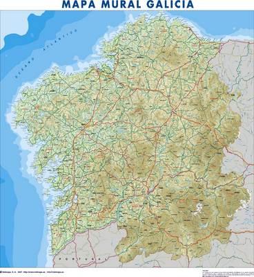 Mapa De Galicia Fisico Mudo.Mapa De Galicia Espana